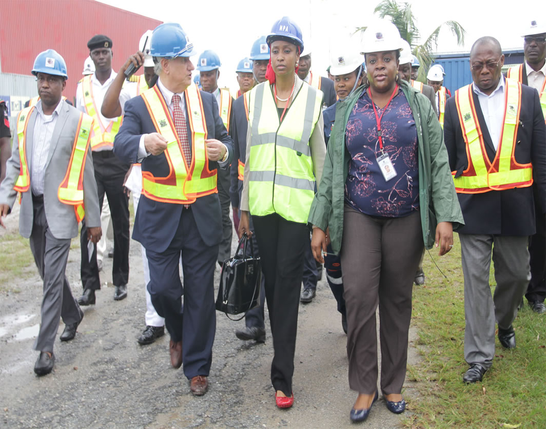 npa md hadiza touring a site