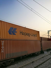 containers on rail